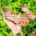 zj00644 Huarache Artesanal Mexicano Hecho mano piel bebe Zapato piso calzado mayoreo fabrica proveedor maquilador fabricante ma