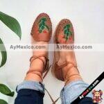 zj00692 Huarache artesanal piso mujer mayoreo fabricante calzado zapatos proveedor sandalias taller maquilador