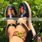 zs00313 Huarache artesanal piso mujer mayoreo fabricante calzado zapatos proveedor sandalias taller maquilador