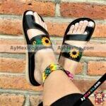 zs00604 Huaraches artesanales mexicanos de piso para mujer mayoreo fabrica