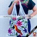 bj00018 Bolsa artesanal bordada a mano blancamayoreo fabricante proveedor taller maquilador (1)