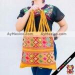 bj00025 Bolsa artesanal bordada a mano amarillamayoreo fabricante proveedor taller maquilador (1)