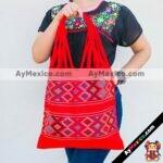 bj00026 Bolsa artesanal bordada a mano rojamayoreo fabricante proveedor taller maquilador (1)