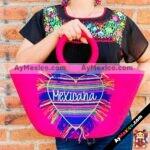 bs00020 Bolsa Artesanal bordada a mano rosamayoreo fabricante proveedor taller maquilador (1)