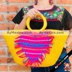 bs00022 Bolsa Artesanal bordada a mano amarillamayoreo fabricante proveedor taller maquilador (1)