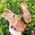 zj00538 Huarache artesanal piso infantil mayoreo fabricante calzado zapatos proveedor sandalias taller maquilador