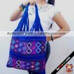 bj00027 Bolsa artesanal bordada a mano azulmayoreo fabricante proveedor taller maquilador (1)