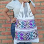 bj00028 Bolsa artesanal bordada a mano blancomayoreo fabricante proveedor taller maquilador (1)