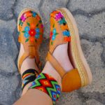 zj00194 Huarache artesanal plataforma mujer mayoreo fabricante calzado zapatos proveedor sandalias taller maquilador