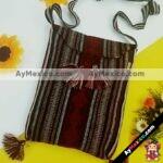 bj00036 Morral bolsa de mano artesanal vino medida 34.5×28 cm con pompones mayoreo fabricante proveedor taller maquilador (1)