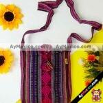 bj00070 Morral bolsa de mano artesanal rosa medida 25.5×21 cm con pomponmayoreo fabricante proveedor taller maquilador (1)