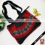 bj00082 Bolsa mochila morral de mano artesanal medida 25×34 cm rojo abanicomayoreo fabricante proveedor taller maquilador (1)