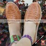 zj00751 Huarache artesanal piso mujer mayoreo fabricante calzado zapatos proveedor sandalias taller maquilador (2)