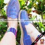 zs00911 Huaraches artesanales tejido color lila de piso mujer mayoreo fabricante calzado zapatos proveedor sandalias taller maquilador